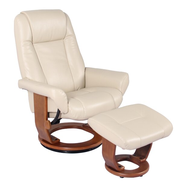 Home & Outdoor Ine Manual Swivel Recliner With Ottoman
