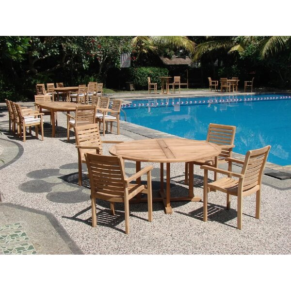 Silliman Luxurious 5 Piece Teak Dining Set by Rosecliff Heights