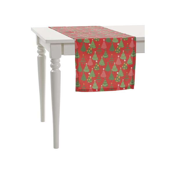Multi Little Christmas Trees Table Runner by Debag