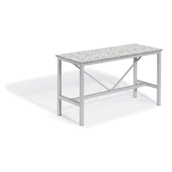 Maclin Aluminum Bar Table by Latitude Run