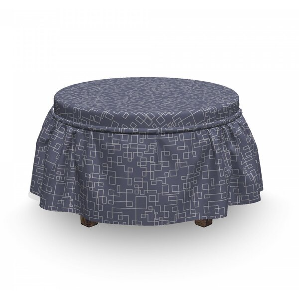 Interweaved Stripes Ottoman Slipcover (Set Of 2) By East Urban Home