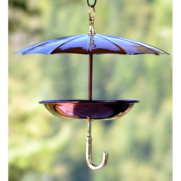 Steel Umbrella Tray Bird Feeder by H. Potter