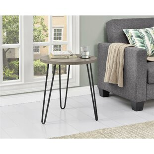 Bronstein Retro End Table Mercury Row