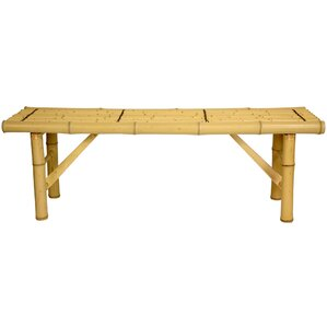 Japanese Bamboo Folding Bench by Oriental Furniture