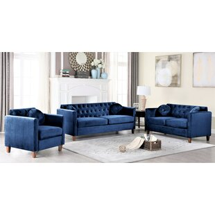 Bellair 3 Piece Living Room Set by House of Hampton®
