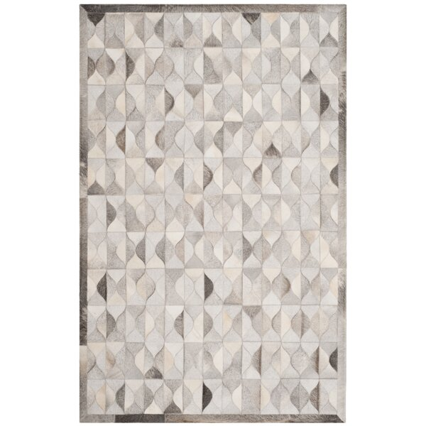 Wylie Leather Hand Tufted Gray Area Rug by Brayden Studio