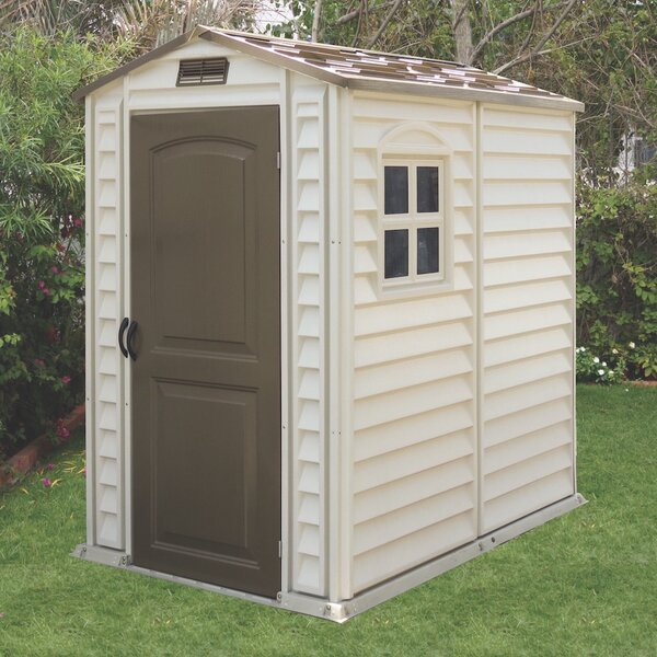 3 ft. 10 in. W x 5 ft. 8 in. D Plastic Tool Shed by Duramax Building Products