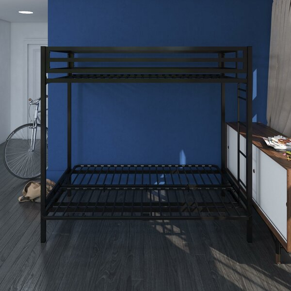 Simoneau Metal Twin over Full Futon Bunk Bed by Harriet Bee