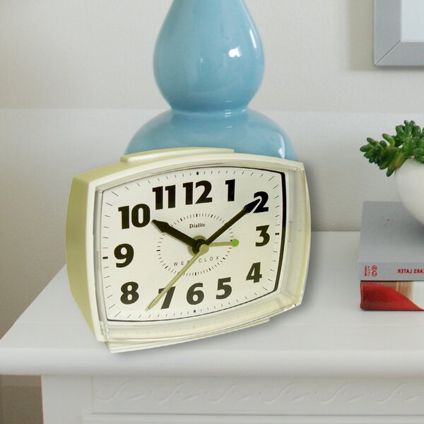 Quartz Electric Cream Alarm Clock by Westclox Clocks