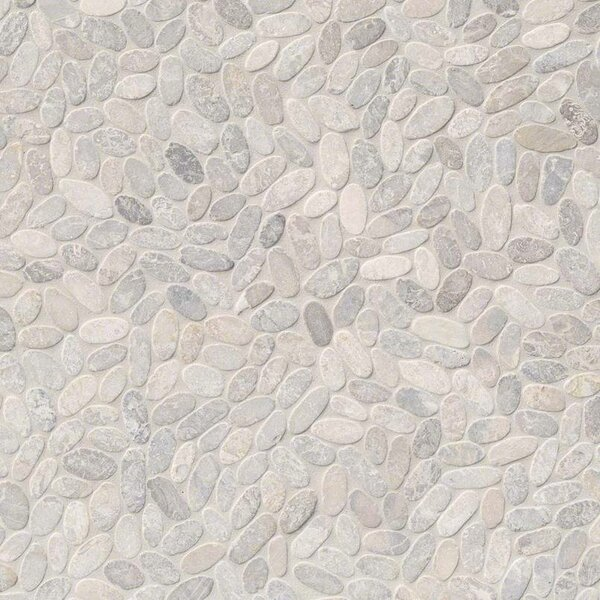 Sliced Pebble Ash Random Sized Marble Tile in Brown/Beige by MSI