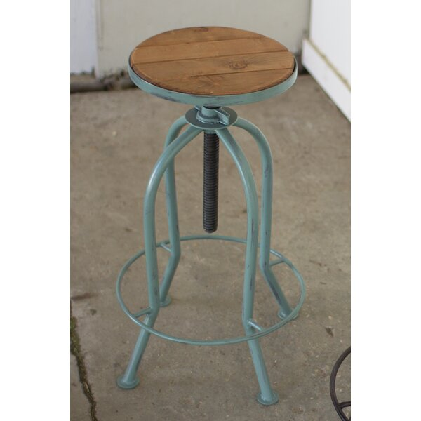 Haynes Adjustable Height Bar Stool by Gracie Oaks