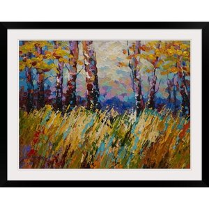 Abstract Autumn by Marion Rose Framed Painting Print by Great Big Canvas