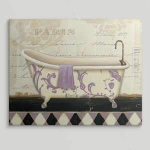 'Lavender Marche de Fleurs Bath I' by Lisa Audit Graphic Art on Wrapped Canvas by Great Big Canvas