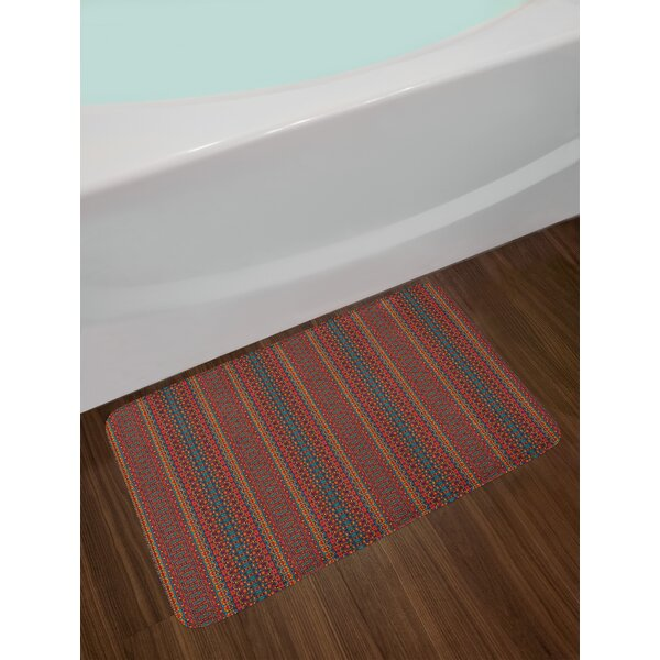 Folkloric African Bath Rug by East Urban Home