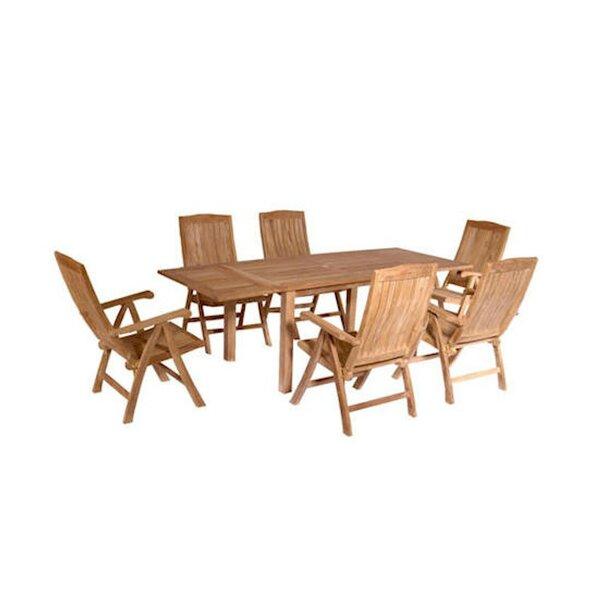 Farnam 7 Piece Teak Dining Set by Rosecliff Heights