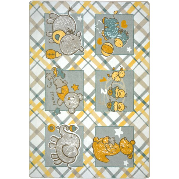 Yellow/Gray Area Rug by The Conestoga Trading Co.