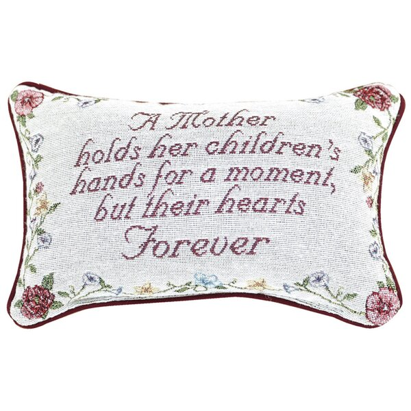 A Mother Holds Her Moment Lumbar Pillow by Manual Woodworkers & Weavers