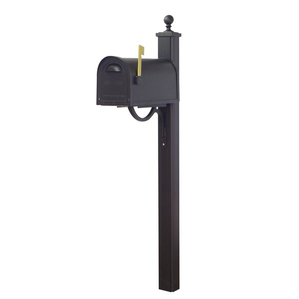 Classic Curbside Locking Mailbox with Main Street Post Included by Special Lite Products