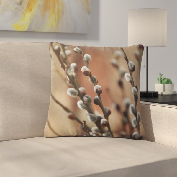 Angie Turner Pussy Willows Outdoor Throw Pillow by East Urban Home