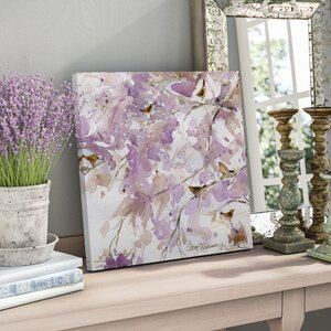 'Lavender Spring II' Oil Painting Print on Wrapped Canvas by Lark Manor