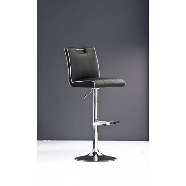 Clower Adjustable Height Swivel Bar Stool with Footrest by Orren Ellis