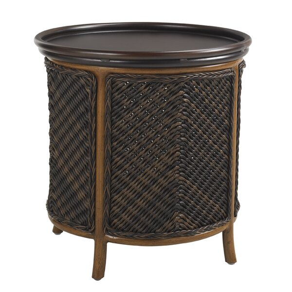 Island Estate Lanai Wicker Rattan Side Table by Tommy Bahama Outdoor