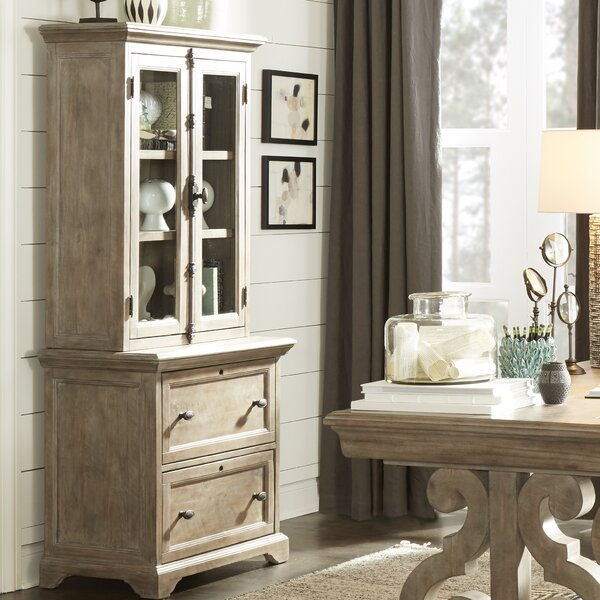Ellenton 2 Drawer Lateral Filing Cabinet with Hutch by Greyleigh
