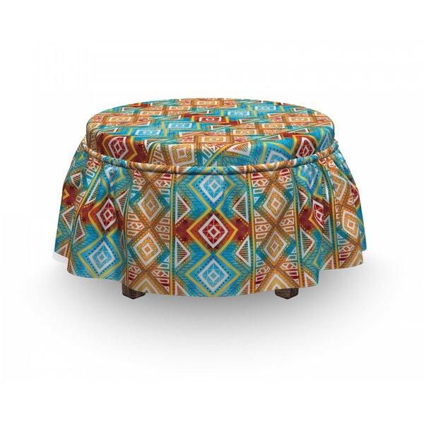 Tie Dye Geometric Ottoman Slipcover (Set Of 2) By East Urban Home