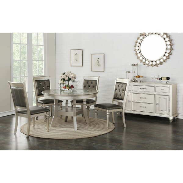 Blumer Glass 5 Piece Dining Set by Rosdorf Park