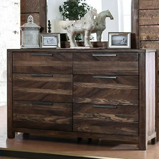Serafina 6 Drawer Double Dresser with Mirror by 17 Stories