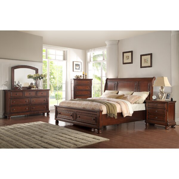 American Heritage Queen Platform 5 Piece Bedroom Set by Ultimate Accents