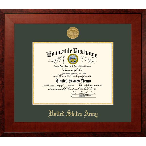 Army Discharge Honor Picture Frame by Patriot Frames