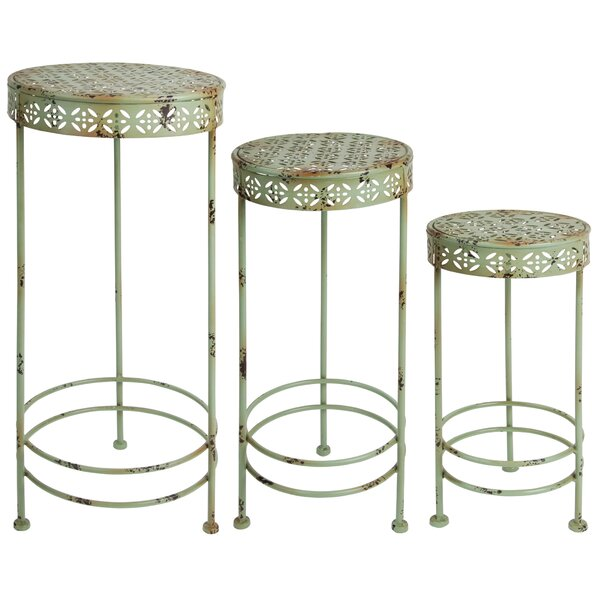 Industrial Heritage 3 Piece Plant Stand Set by EsschertDesign| @ $137.99