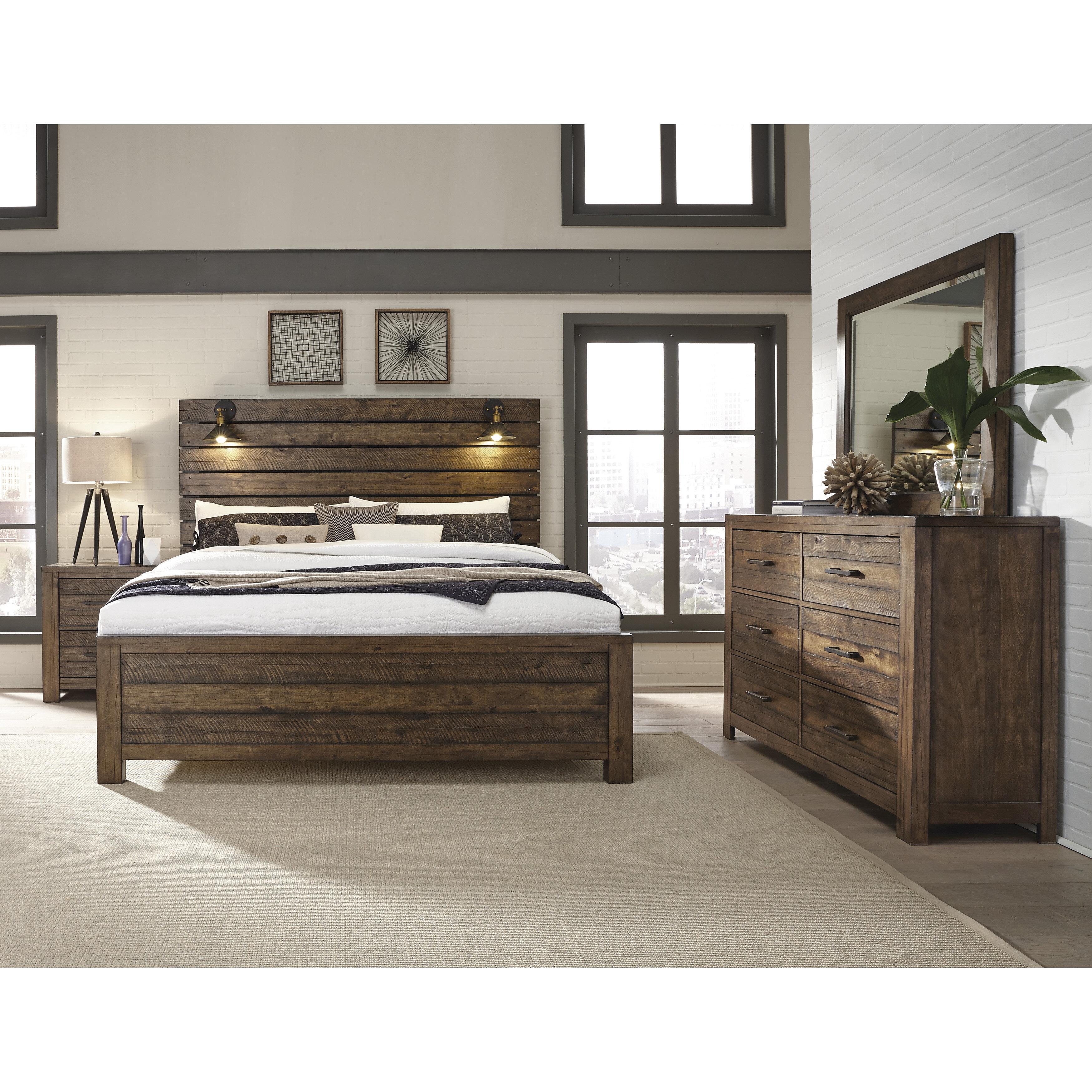 Gracie Oaks Tripp Standard Solid Wood 5 Piece Bedroom Set Wayfair