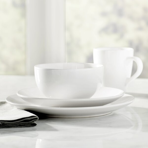 Wayfair Basics 16 Piece Stoneware Dinnerware Set,