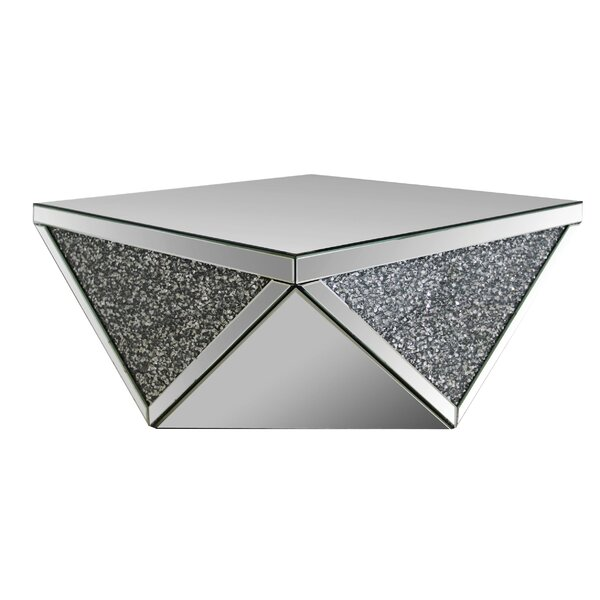 Ayala Square Mirrored Top Coffee Table by House of Hampton