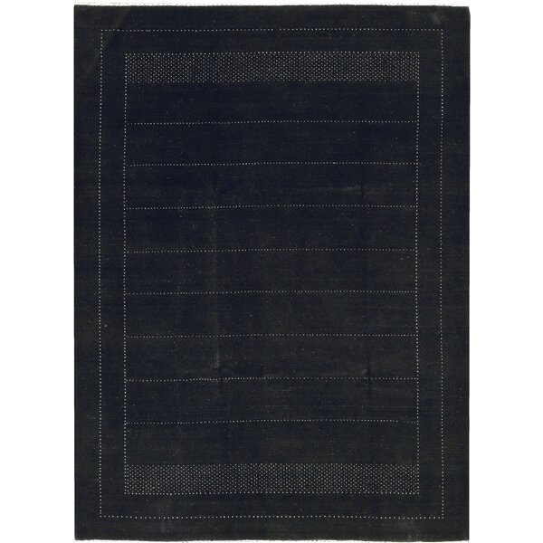One-of-a-Kind Gabbeh Hand-Knotted Wool Dark Gray Area Rug by Bokara Rug Co., Inc.