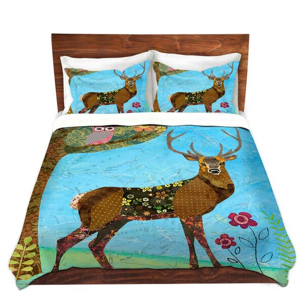 Forest Stag and Owl Duvet Cover Set