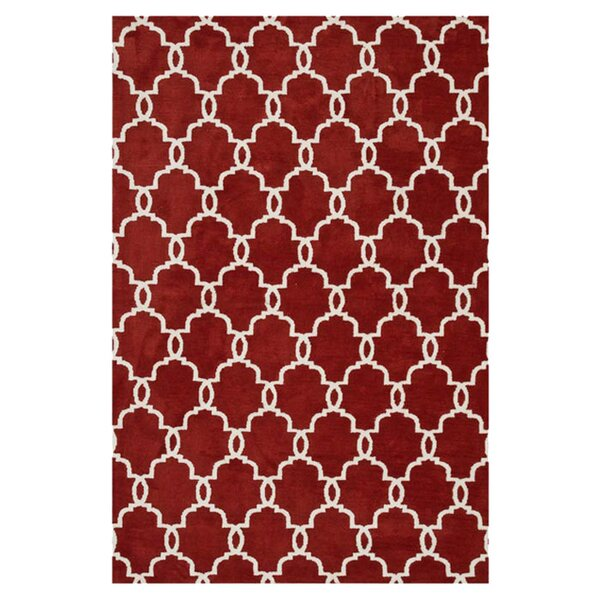 Dane Rust/Ivory Area Rug by Wrought Studio