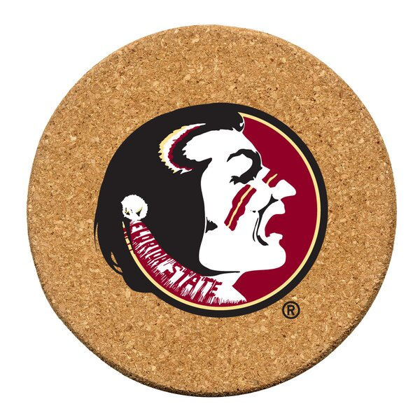 Florida State University Cork Collegiate Coaster Set (Set of 6) by Thirstystone