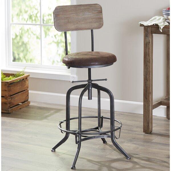 Siyeh Adjustable Height Swivel Bar Stool by Trent Austin Design