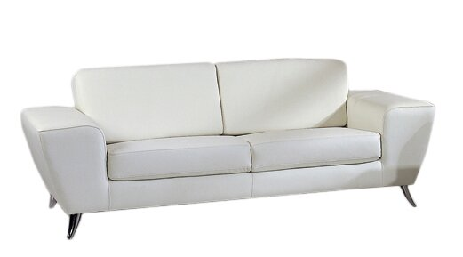 Alonso Leather Sofa by Wade Logan