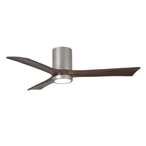 52 Rosalind 3 Blade Hugger Ceiling Fan with Wall Remote and Light Kit by Wade Logan