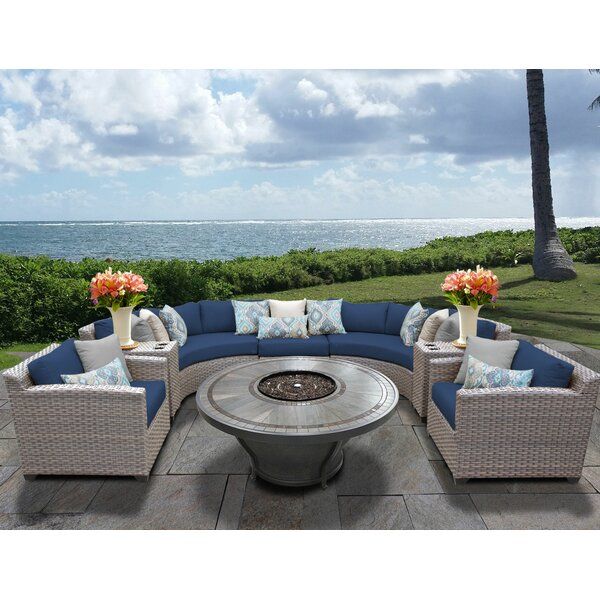 Romford 8 Piece Sectional Seating Group with Cushions by Sol 72 Outdoor