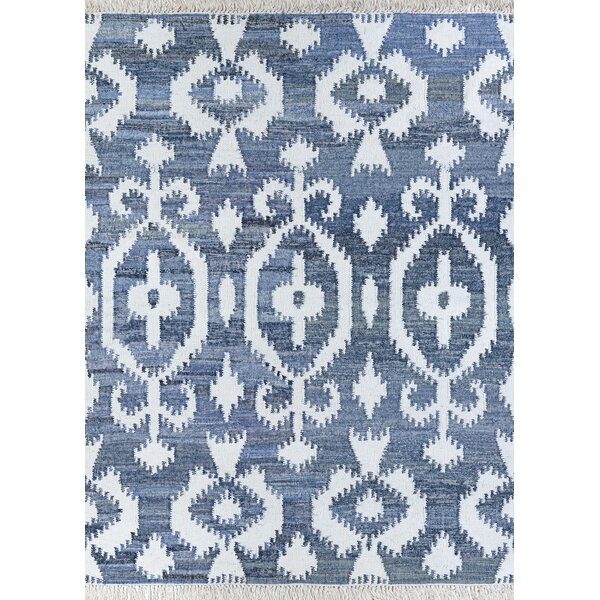 Centralia Handwoven Flatweave Blue Area Rug by Bungalow Rose