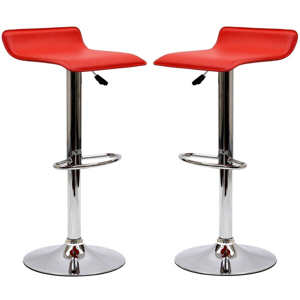 Steuben Adjustable Height Swivel Bar Stool (Set of 2) by Wade Logan
