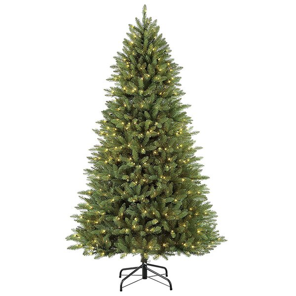 Fraser 90 Green Fir Artificial Christmas Tree with 600 Clear and White Lights by The Holiday Aisle