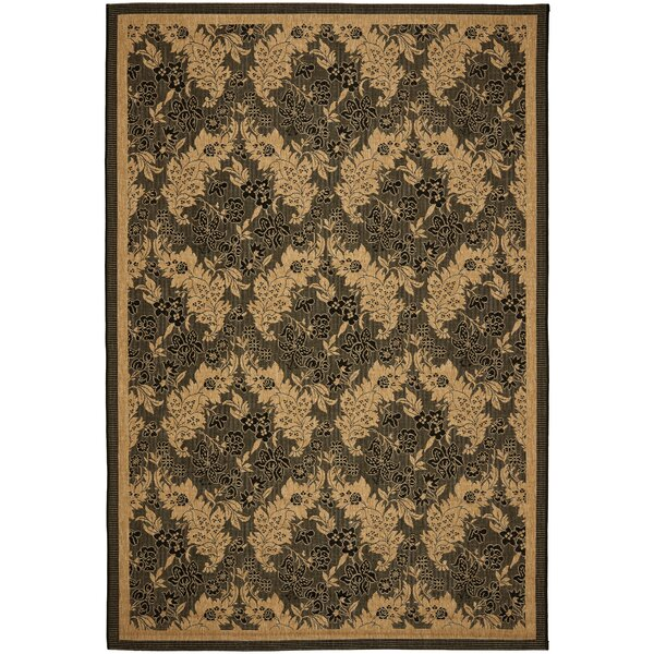 Short Black Outdoor Area Rug by Winston Porter