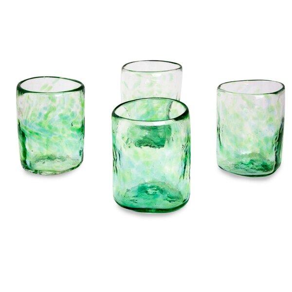 Jade Mist Rocks Glass (Set of 4) by Novica