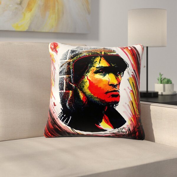 Ivan Joh Tsoi Is Alive People Outdoor Throw Pillow by East Urban Home